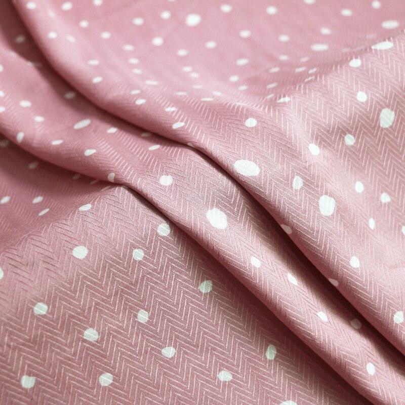 1 meter X 1.4 meter Elegant Polka Dots Fabric Soft Viscose Material Herringbone