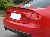 Carro de Fibra De carbono Asa Traseira Tronco spoiler Spoilers Lábio Se Encaixa Para Audi A4 S4 RS4 2009 2014 Spoilers e aerofólios     -