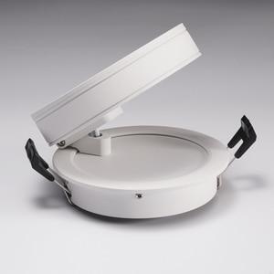 Image 3 - 회전 360 ° 접는 recessed 라운드 cob led downlights 7 w/12 w led 천장 스포트 라이트 배경 그림 램프 실내 lig