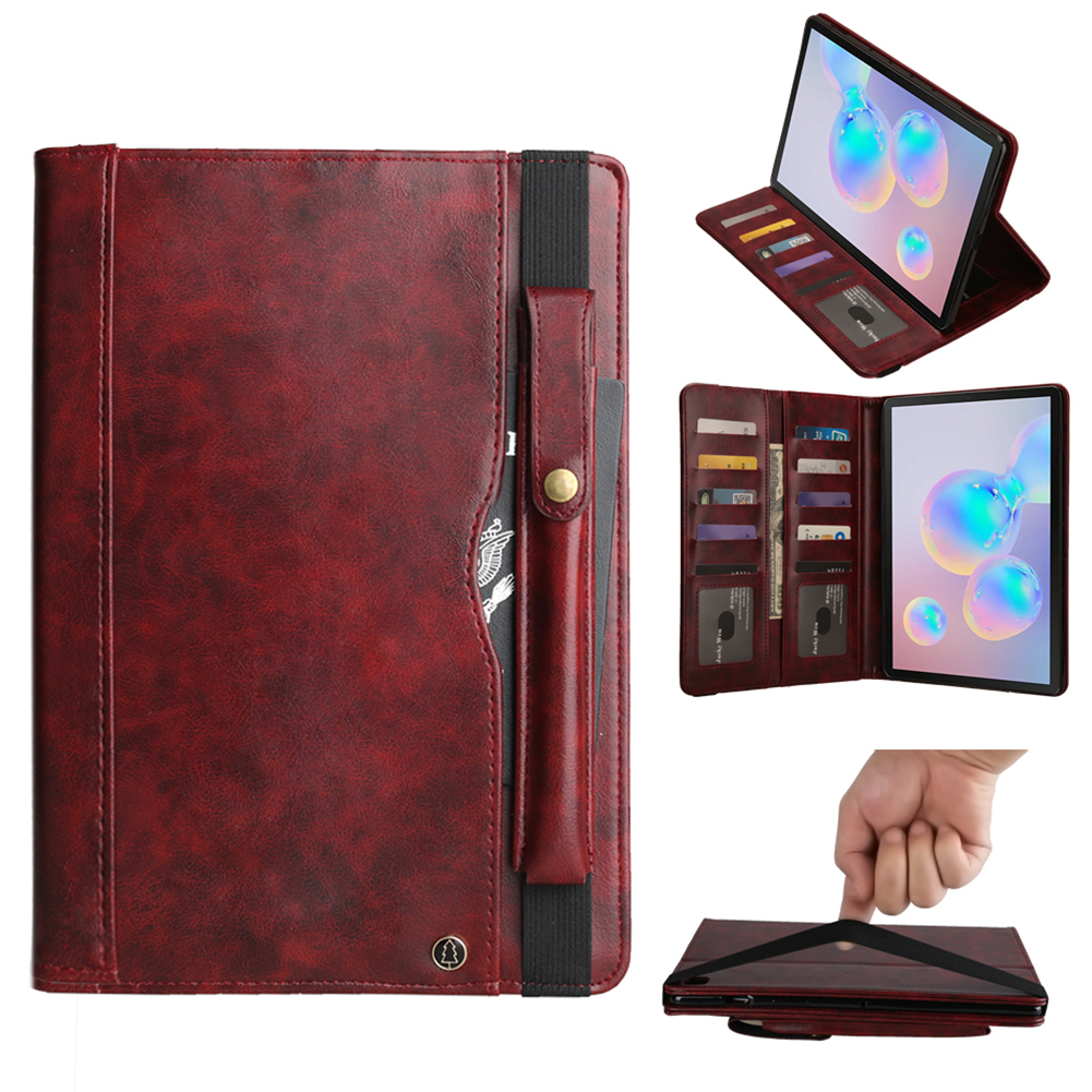 Shockproof Tablet Cover For Samsung Galaxy Tab S6 10.5 Inch SM-T860 SM-T865 2019 Case Business PU Leather Flip Stand Cover