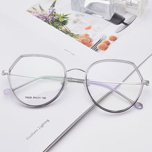 New Products-Style Metal Big Box Irregular Glasses Frame Women's Online Celebrity Cute Cat's Eye Nearsighted Glasses T8220(China)