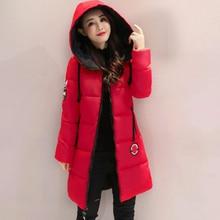 KMVEXO 2019 Women Winter Jacket Hooded Warm Thicken Cotton Padded Women Winter Coat Female Outwear Parka Casaco Feminina Inverno стоимость