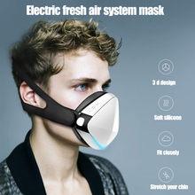 Mascarilla facial eléctrica inteligente para adultos, máscara respirador antivaho, purificación de aire, automático, para deportes frescos, uso repetido