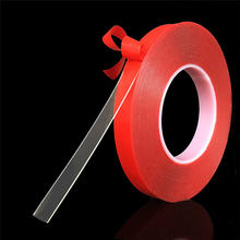 3 м красная прозрачная силиконовая Двухсторонняя клейкая лента