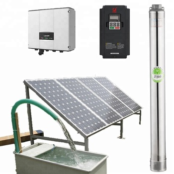 5500 Watt Solar Water Pump, Agriculture Brushless Submersible Deep Well Solar Pump deep well submersible pump well water 220v stainless steel high lift deep water three phase 380v irrigation suction pump