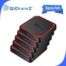5 pces x96 mini além de android caixa de tv inteligente android 9 mlogic s905w4 quad core 2g 16gb 4k x96 mini smart tv conjunto caixa superior media player