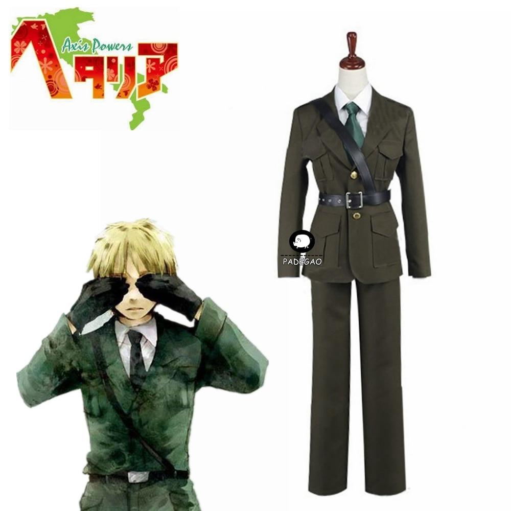 APH Axis Powers Hetalia England UK Arthur Kirkland Cosplay Costume Outfit