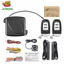 Alarma de coche RFID con botón de arranque del motor, dispositivo de arranque de entrada sin llave, inmovilizador de parada, sistema antirrobo