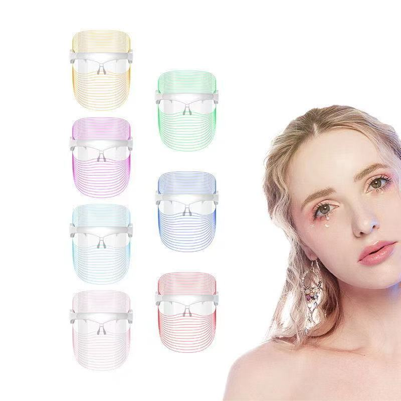 Dropshipping  Korean Photon Therapy Face Mask LED Light Therapy  Facial Mask Skin Care Anti Wrinkle Skin Tighten Beauty Machine