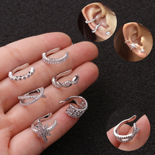 1pc Helix Cartilage Conch Fake Piercing Jewelry Adjustable Ear Cuff