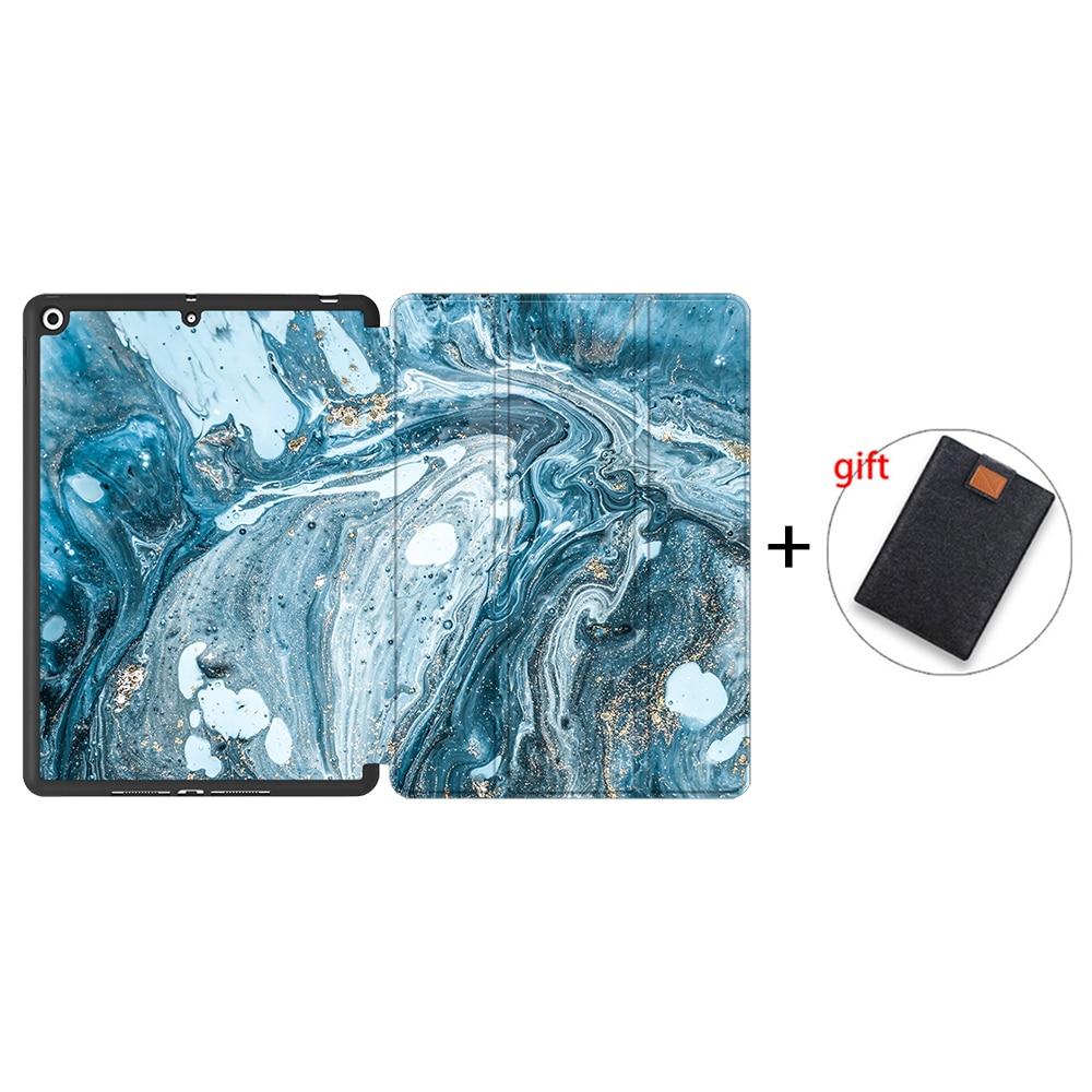 IPTPU10 Pink MTT Soft TPU Back Case For iPad 10 2 inch 7th 8th Gen Marble PU Leather
