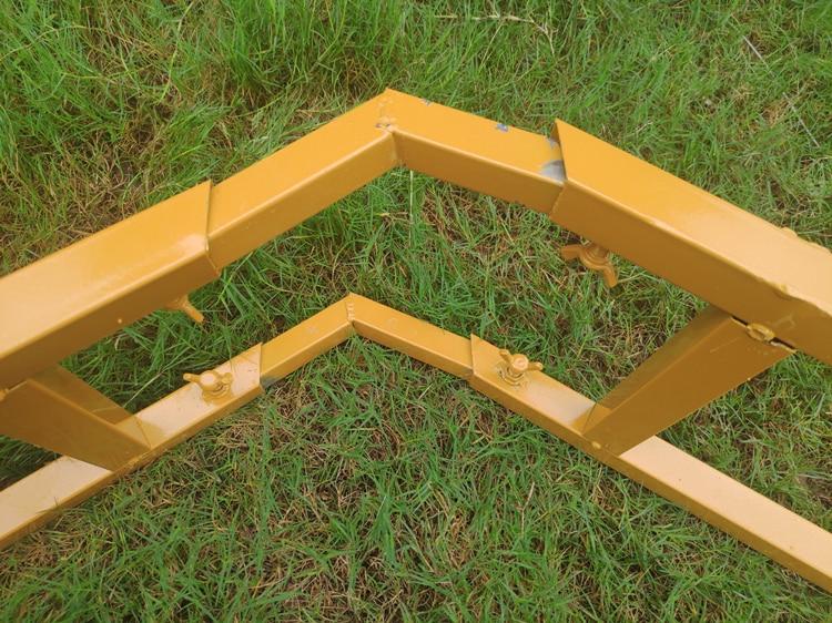 1 Stuk Dubbele Zeshoekige Boog Smeedijzeren Boog Plank Podium Decoratie Achtergrond Frame Bruiloft Props Verjaardagsfeestje Supplies - 6
