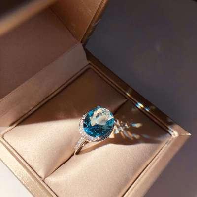 Горячая Распродажа, дизайн, роскошное большое овальное CZ кольцо золотого цвета, обручальное кольцо, хорошее ювелирное изделие для женщин, ювелирных изделий - Цвет основного камня: 14