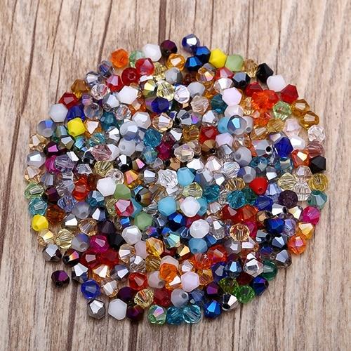 Яркие фиолетовые AB 4 мм 100 шт Австрийские хрустальные биконусные бусины 5301 свободные хрустальные бусы ожерелье браслет ювелирные изделия ручной работы S-61 - Цвет: 20