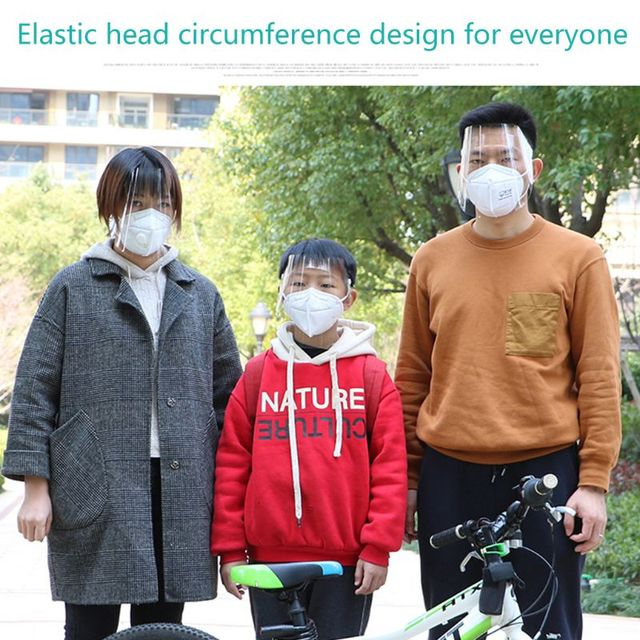 Portable light Transparent Anti-saliva Dust-proof Protect Full Face Covering Mask Visor Shield Protection Masks 3