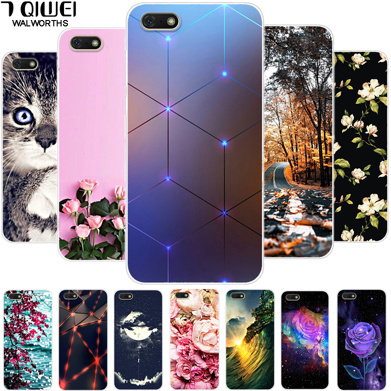 I <font><b>DUA</b></font>-<font><b>L22</b></font> Phone Case For Huawei <font><b>Honor</b></font> <font><b>7A</b></font> Case 5.45'' Soft Silicone Cartoon TPU For Huawei <font><b>Honor</b></font> <font><b>7A</b></font> Case Cover a7 7 a Slim Animal image