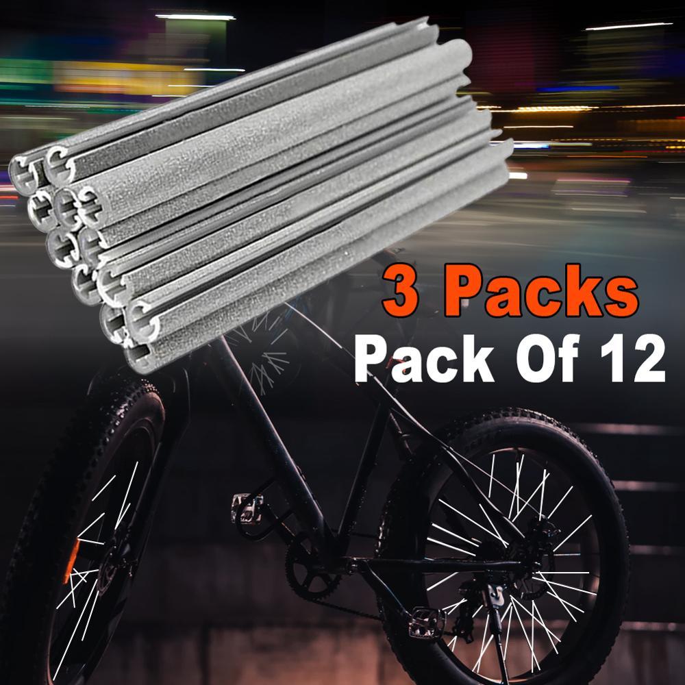 36 pièces bande réfléchissante naturelle vélo nuit fil autocollants VTT Fluorescent rayons autocollants voyage réfléchissant