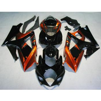 Motorcycle Motorbike Black Orange Injection ABS Plastic Fairing Bodywork Kit For Suzuki GSXR1000 GSXR GSX-R 1000 2007-2008 K7