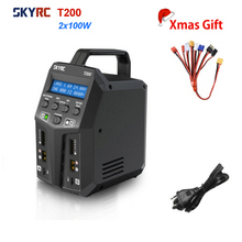 Charger Skyrc T200 Cables Dual-Battery Lihv/life/Liion-battery Ce for 1-6S with 2X100W