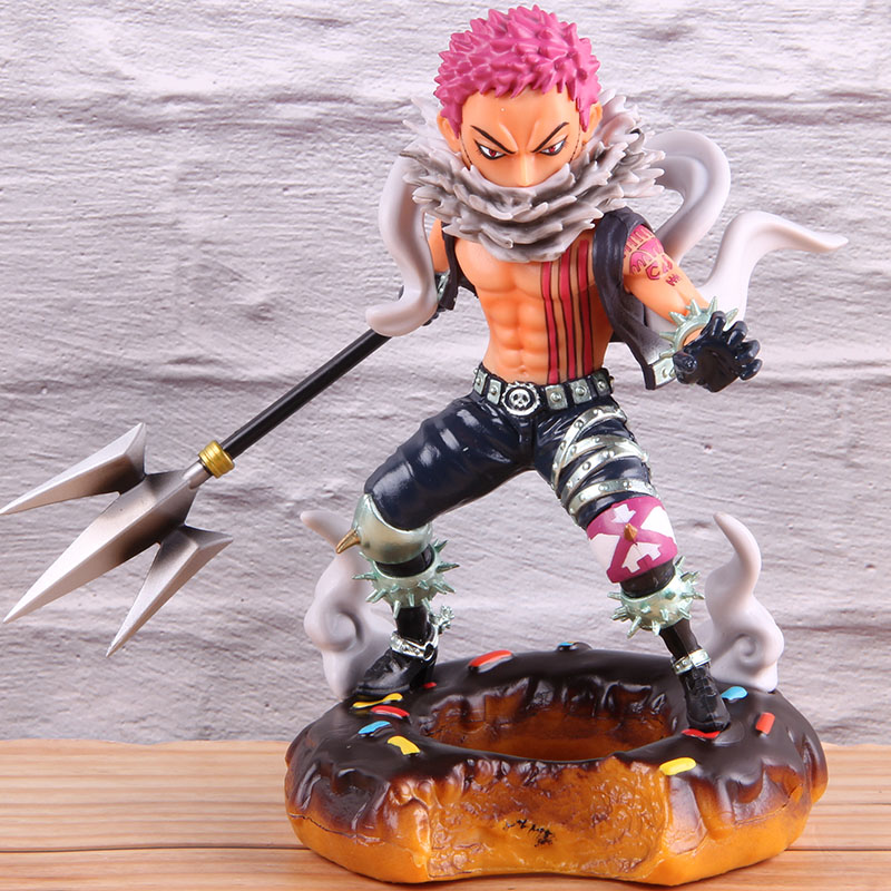 Anime <font><b>One</b></font> <font><b>Piece</b></font> Charlotte <font><b>Katakuri</b></font> Action <font><b>Figure</b></font> Donuts Version PVC Collection Model Toy Onepiece Birthday Gift image