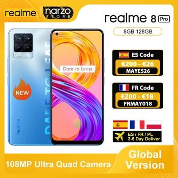 In Stock Global Version Realme 8 Pro Smartphone 8GB 128GB 6.4'' Screen 108MP Ultra Quad Camera Snapdragon 720G 4500mAh 50W NFC 1