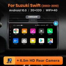 Awesafe px9 para suzuki swift 2003 - 2010 rádio do carro reprodutor de vídeo multimídia navegação gps nenhum 2 din 2din dvd android 10