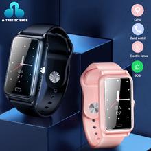 Nowy Smartwatch dla dzieci SOS telefon w zegarku Smartwatch młodzież z kartą Sim pozycjonowanie GPS wodoodporny Smartwatch IP67 tanie tanio NoEnName_Null CN (pochodzenie) Android Wear Na nadgarstku Wszystko kompatybilny 512 mb Passometer Fitness tracker Uśpienia tracker