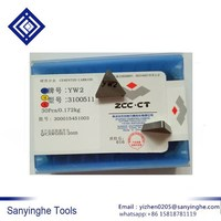 YT15 3100511 Original ZCCCT cemented carbide 30pcs/box milling machine clip blade triangular indexable insert Impact resistance