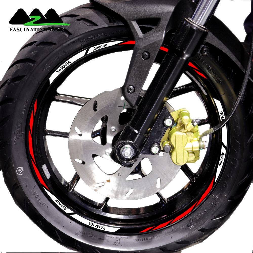 Suitable for 12 inch rims of Yamaha motorcycles with color reflective strips and waterproof individual rim decals