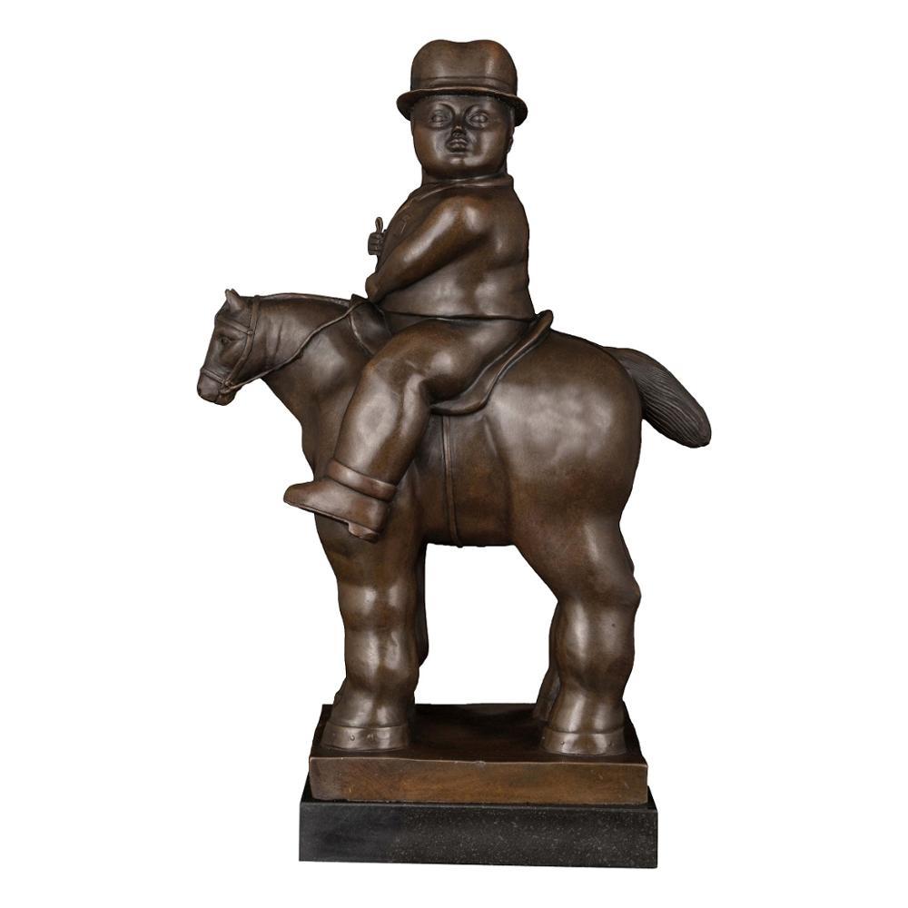 Fernando Botero Bronze Statue Sculpture Abstract Modern Art Sculpture Home Decoration Accessories Decor Bronze Statue Decorative