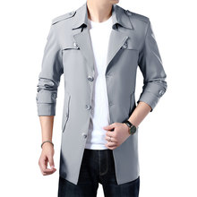 Mens Trench Coat 2020 Men's Spring Autumn Trench Jackets Men Blazers Designs Slim Business Casual Outerwear Coat Male Clothes(China)