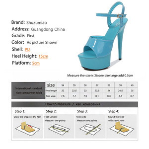 Image 5 - Sandals Shoes Woman Thin Heels Platform 2020 Beach Sexy Sandals Wedding Shoes Steel Tube Dancing Girl Stripper Shoes Open Toe