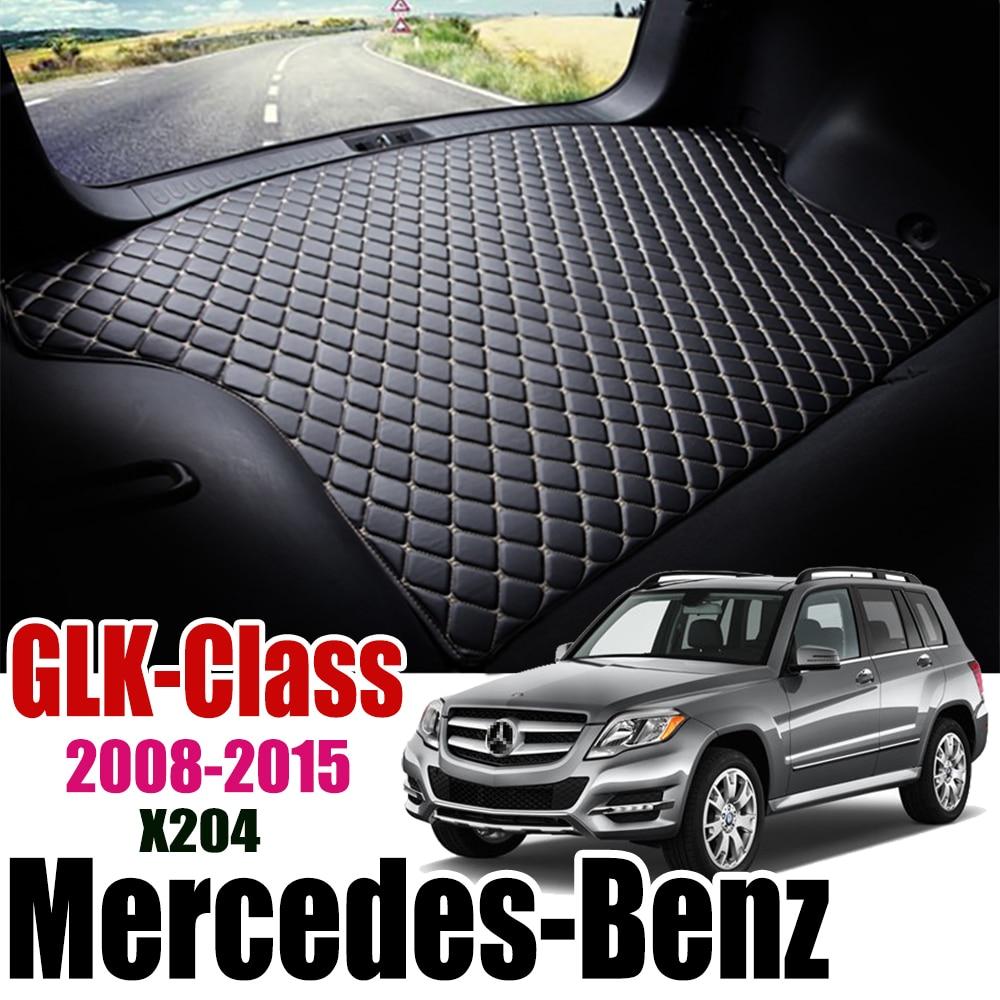Deri araba gövde Mat halı kuyruk Benz X204 kargo astarı Mercedes Benz GLK Class için 2008-2015 gövde çizme Mat benz GLK astarı ped