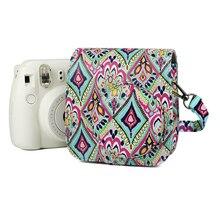 цена на Folk-custom Camera Protective Case PU Leather Cover Instant Camera Bag Protector for Fujifilm Instax Mini9 Mini8 Mini8+