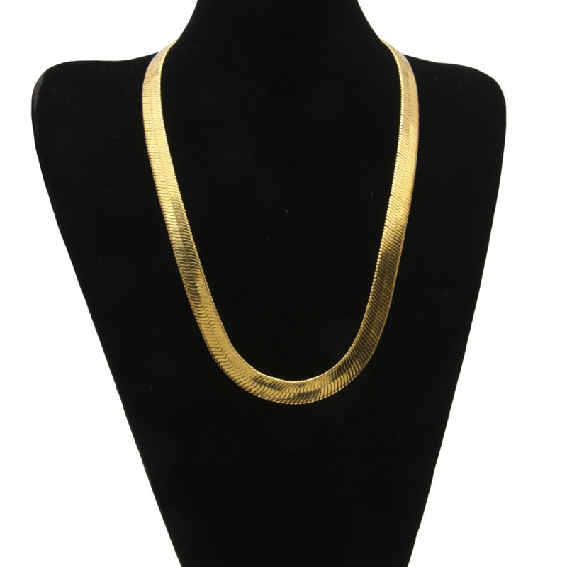 10mm-wide-76cm-30-flat-snake-chain-necklace-real-yellow-gold-filled-classic-men-s-necklace