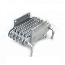 Universal  Aluminum Racing Car Motorcycle Diesel Gasolin Small Engines Fuel Oil Cooler 8mm silver SO 01