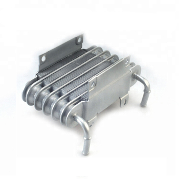 Universal  Aluminum Racing Car Motorcycle Diesel Gasolin Small Engines Fuel Oil Cooler 8mm silver SO-01 evil energy universal 10 row 10an aluminum engine oil cooler transmission cooler racing oil cooler raditor