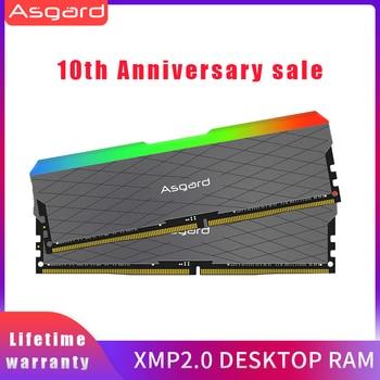 Asgard Loki w2 RGB 8GB * 2 3200MHz DDR4 DIMM 288-pin XMP ذاكرة الوصول العشوائي ذاكرة عشوائيّة للحاسوب المكتبي Rams لألعاب الكمبيوتر ثنائي القناة