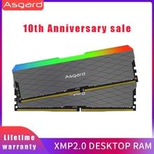 Asgard memória ram ddr4, loki w2 rgb 8gb * 2 32g 3200mhz dimm 288 pinos memória ram ddr4 para jogos de computador, canal duplo