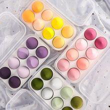 4 stücke/8 stücke Make-Up Schwamm Set Schönheit Mixer Kosmetische Foundation Puff Pulver Concealer Creme Weiche Schwämme Frauen Gesicht make-Up-Tools