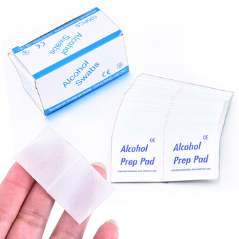 10Pcs Alcohol Swabs Pads Wipes Sterilization Disinfection First Aid Home Makeup Accessories Antiseptic Cleanser Cleaning