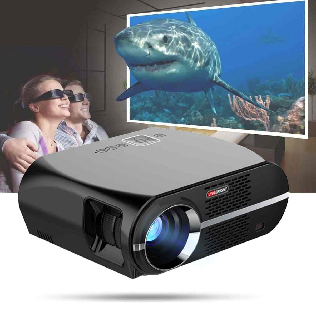 Vivibright GP100UP Hd Android Projector 4K Wifi Bluetooth Smart Led 3500 Lumens 1280*800P 1080P Home theater Amlogic S905X