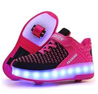Mudipanda Kids Shoes with LED Lights Children Roller Skate Sneakers with Wheels glowing Led Light Up for Boys Girls Roller Skate