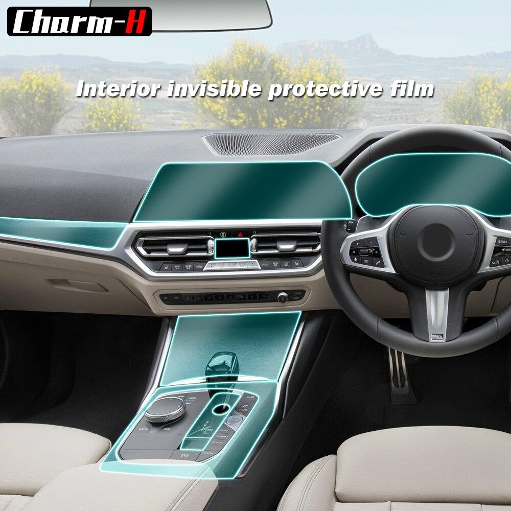 Film thermoplastique en polyuréthane pour BMW séries 3 G20 | Protection du conducteur à main droite de la voiture, porte de la Console centrale, protection de lécran AC Navigation, en polyuréthane