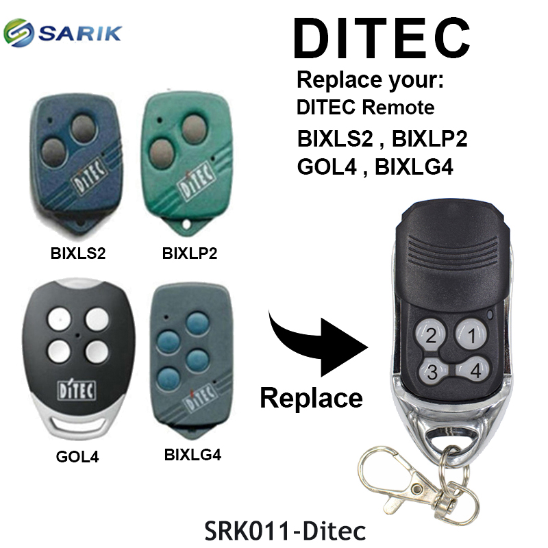 DITEC compatible <font><b>Remote</b></font> Control duplicator <font><b>for</b></font> sliding <font><b>gates</b></font> door opener command garage rolling code keyFob 433.92MHz image