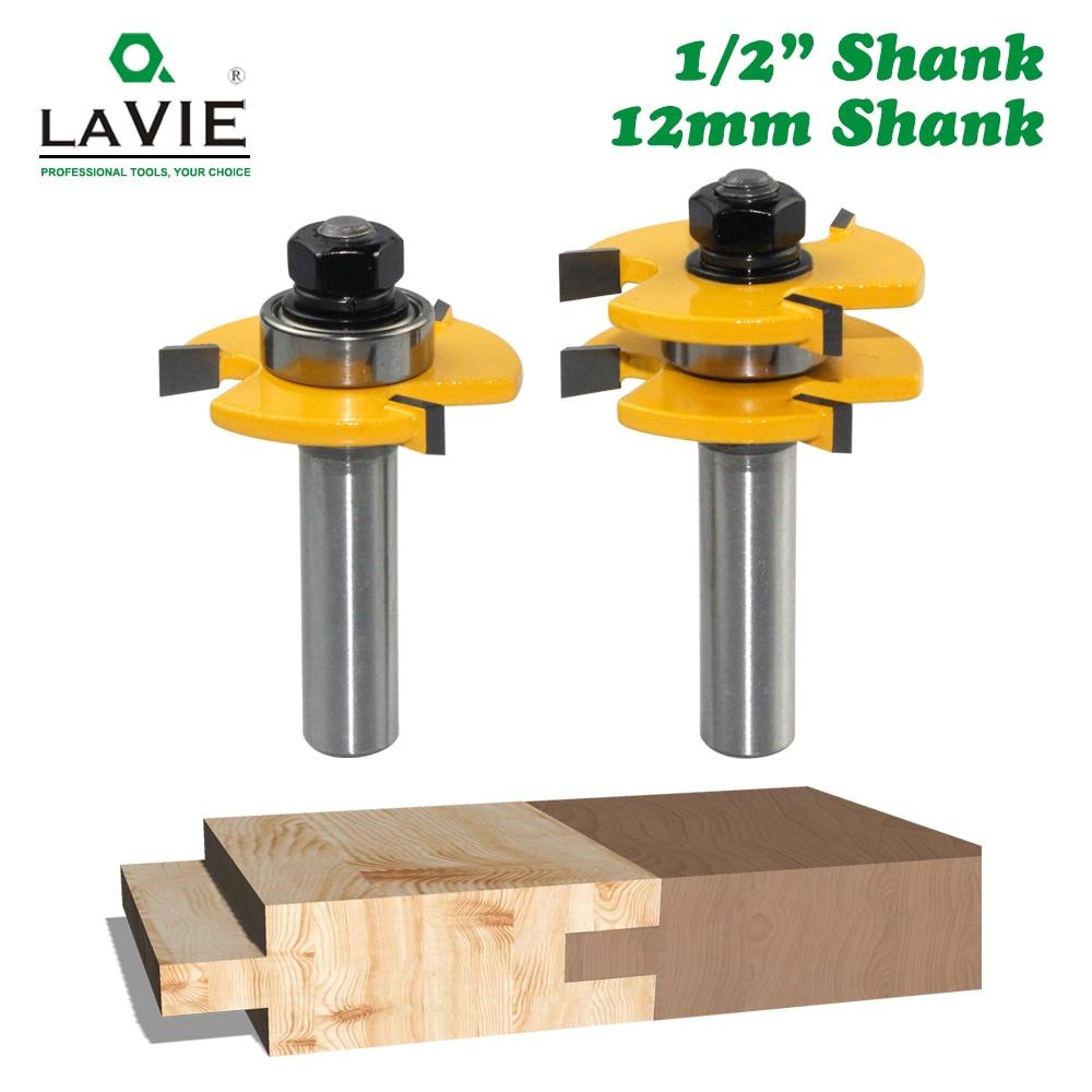 2pcs 12MM 1/2 Shank Tongue & Groove Joint Assemble Router Bits 3/4