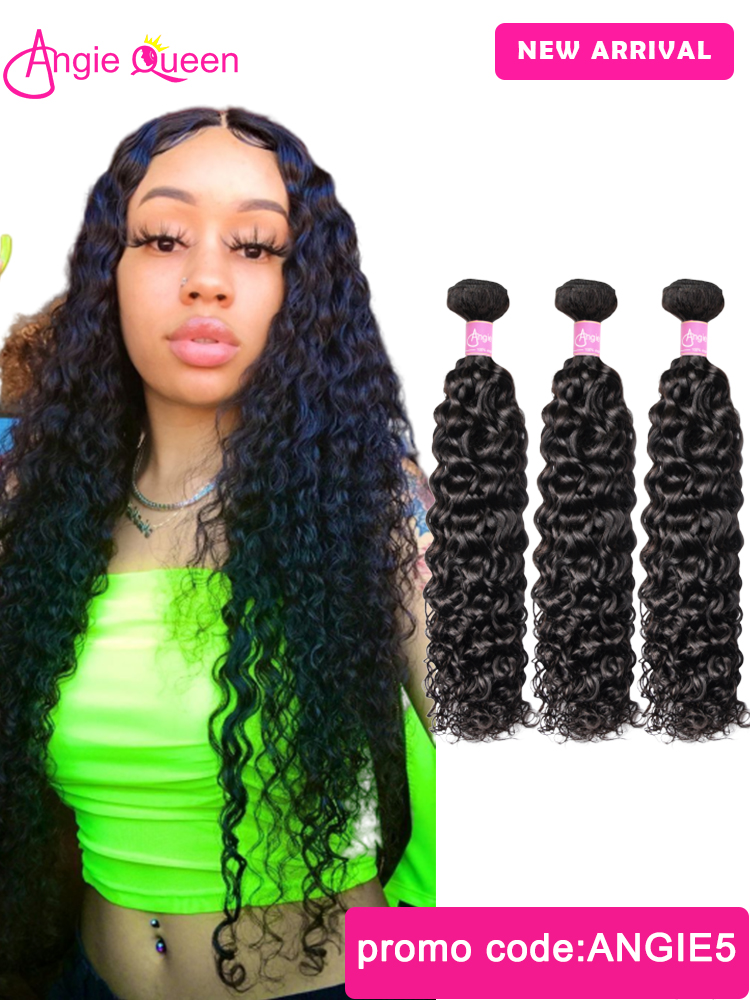 Hair-Weft Bundles Weaves Human-Hair Wavy Indian Remy And Wet 20-22 24-26