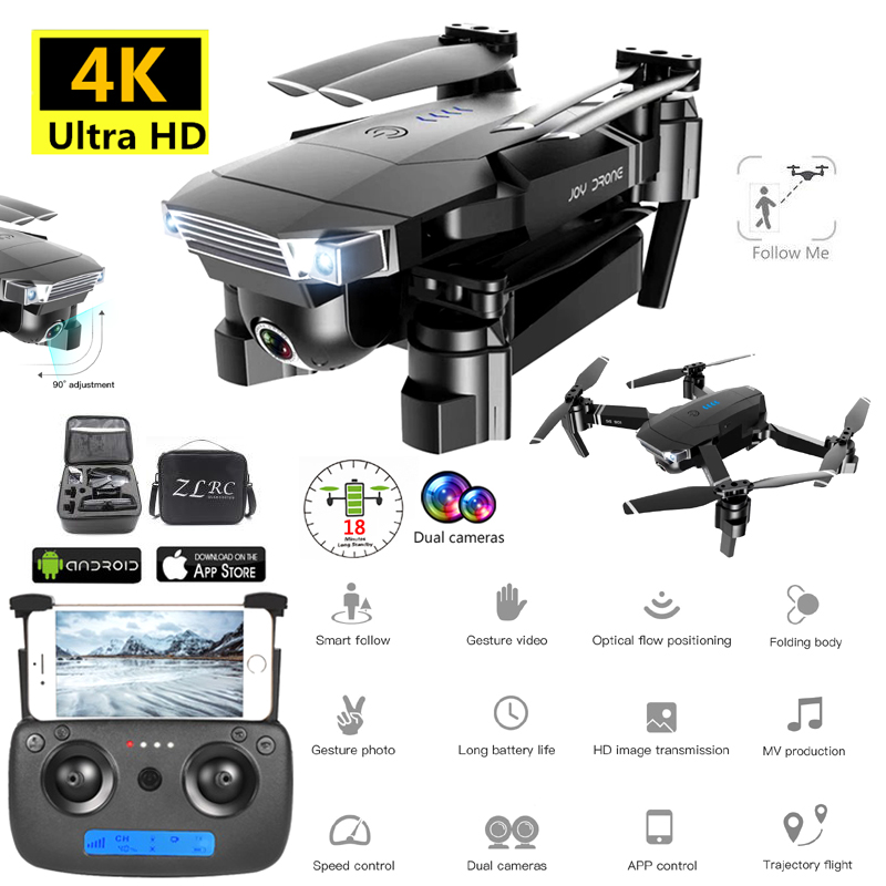 SG901 Drone Camera 4K HD Helicopter Altitude Hold WiFi FPV Optical Flow Positioning Dual Camera Selife Dron Folding Quadcopter image