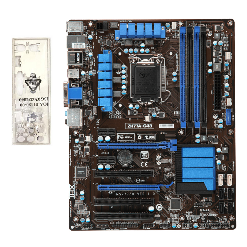 For MSI ZH77A-G43 Desktop motherboard Intel H77 LGA 1155 ATX DDR3 32GB SATA3.0 USB3.0 100% fully Tested Free shipping 9