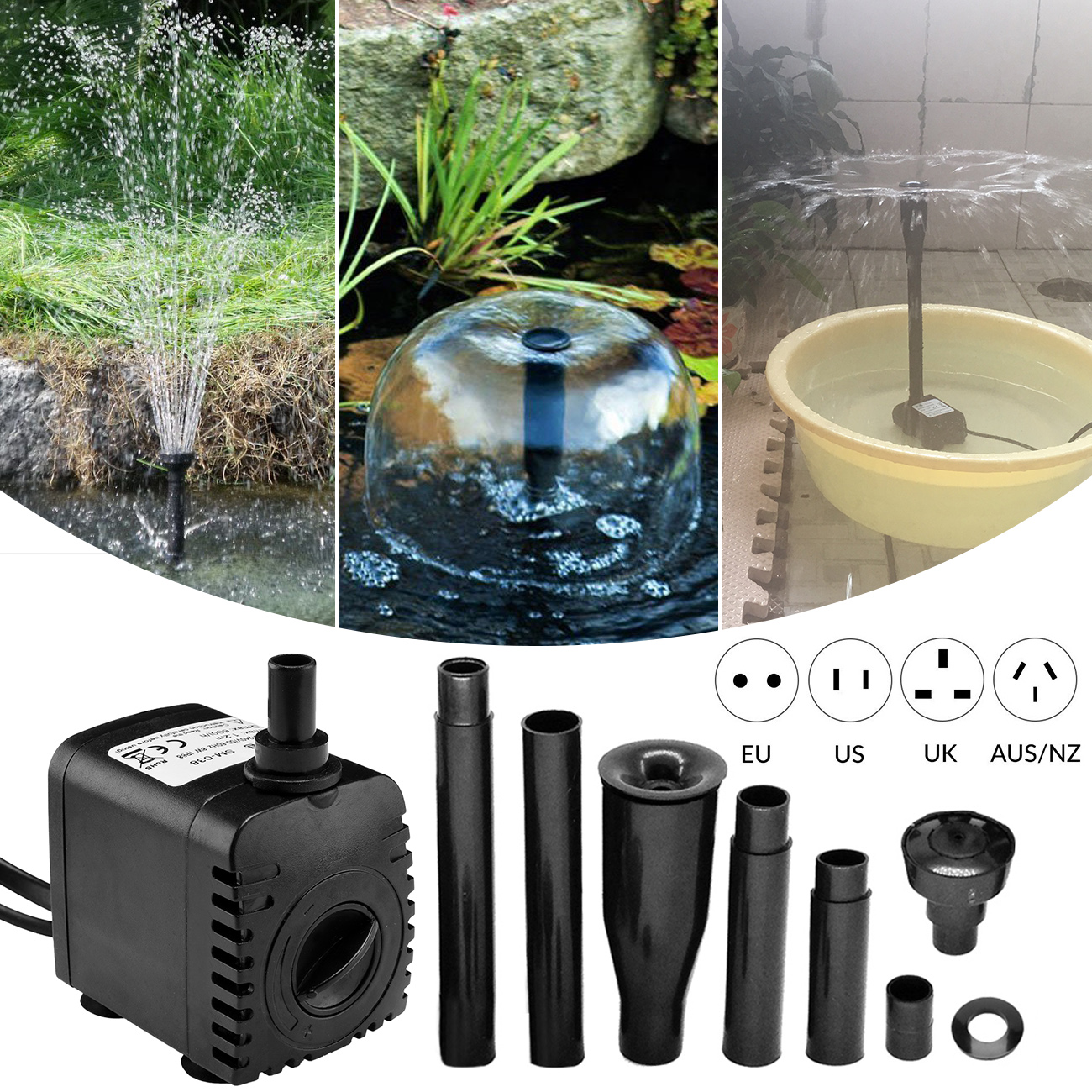 Fountain Pump Garden Water Pump Aquariums Submersible Pump  Oxygen Pump Rockery Fountain Water Fountain Pump Water Pump   D30
